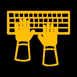 Icône Rédaction jaune
