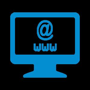 Icône Web bleu clair