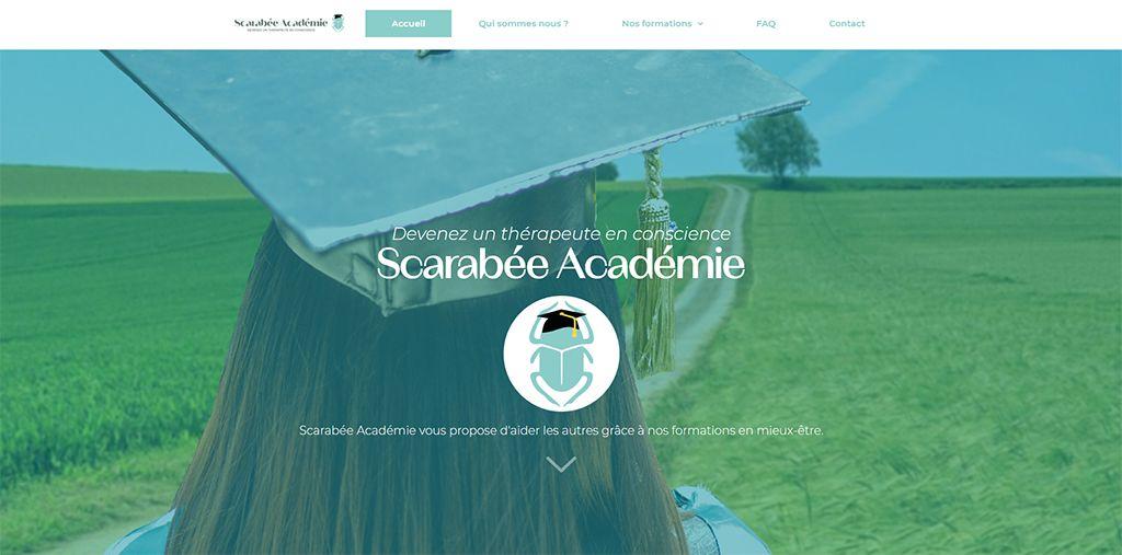 Portfolio Web : Scarabée Académie